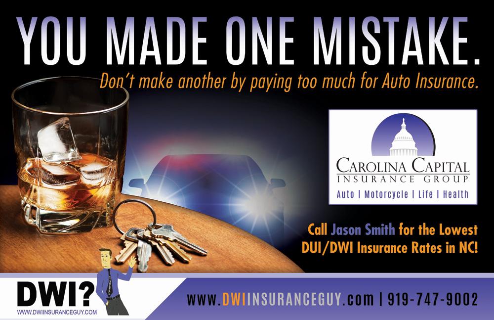 Car Insurance Quotes Nc Interesting NC DUI DWI Auto Insurance